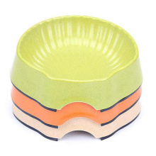 Bamboo Fiber Dog Bowl Non-Skid Pet Dish